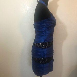 bebe Dresses - Bebe royal Blue bodycon Dress SZ M